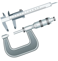 Micrometer and Calliper vector image