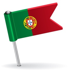 Portuguese pin icon flag vector