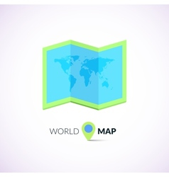 World map logo with pointer vector