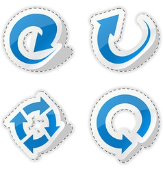 Arrow blue stickers vector image