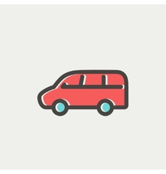 Van transport thin line icon vector