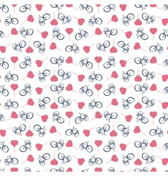 Sporty tourist seamless background with bicycles vector