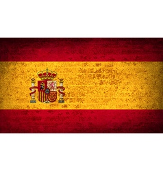 Flags spain with dirty paper texture vector