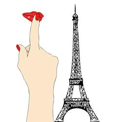 A big kiss from paris vector