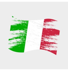 Color italy national flag grunge style eps10 vector