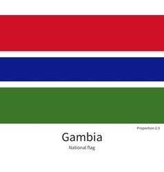 National flag of gambia with correct proportions vector
