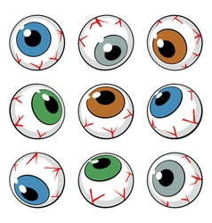 set of eyeball symbols vector image