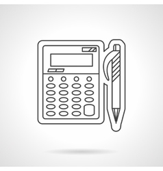 Accounting flat line design icon vector