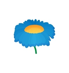 Blue flower icon cartoon style vector