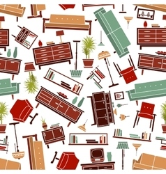 Home furniture seamless pattern background vector