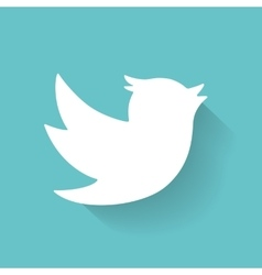 Set of social media icons bird vector