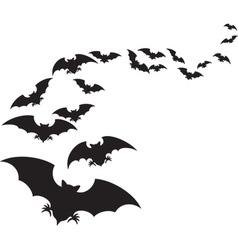 A Flock of Bats vector image