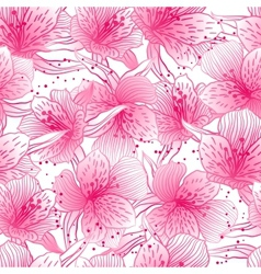 Abstract gradient seamless flower pattern with vector image vector image