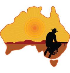 Australian Cowboy vector image