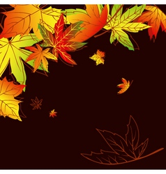autumn leaves background vector image vector image