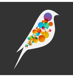Beautiful flat silhouette of the bird vector image