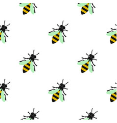 bee pattern flat vector image