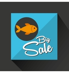 Big sale concept seafood fresh fish vector