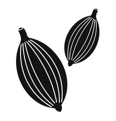 Cardamom pods icon simple style vector