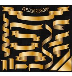 Cartoon golden ribbons vector image