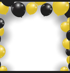 celebration festive gold and black balloons vector image