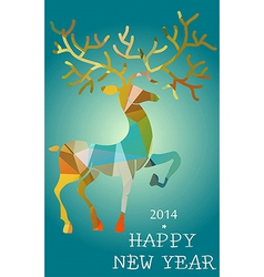 Christmas and New Year deer abstract card vector image vector image