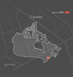 Dotted canada map vector