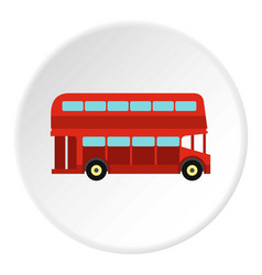 Double decker bus icon circle vector