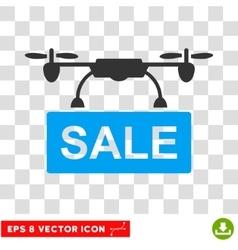 Drone sale eps icon vector