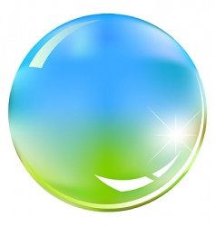 green and blue shiny sphere vector image vector image