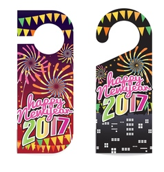 Happy New Year 2017 Door Hanger vector image
