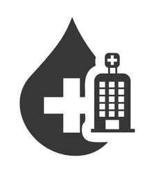 Hospital building with medical icon vector