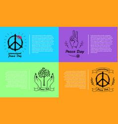 International peace day 4 pics vector