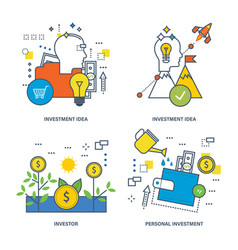 Investing types of investment the investor vector