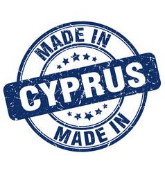 Made in cyprus blue grunge round stamp vector
