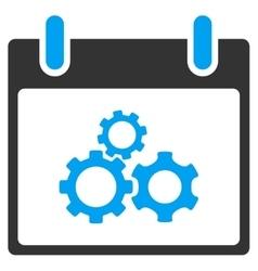 Mechanics gears calendar day toolbar icon vector