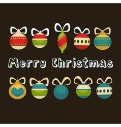 Merry Christmas greeting card Holiday decorations vector image vector image