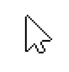 modern arrow cursor icon on white vector image