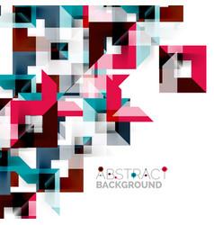 modern square geometric pattern design on white vector image vector image