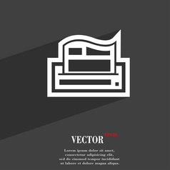 Newspaper icon symbol Flat modern web design with vector image