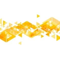 Orange triangles abstract geometric design vector