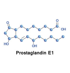 prostaglandin e1 alprostadil vector image vector image
