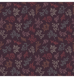 seamless pattern with twigs vector image vector image