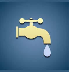 Simple icon tap water vector image