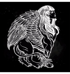 Sphinx beautiful ancient beast vector