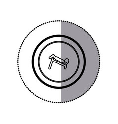 Sticker of monochrome contour pictogram with vector