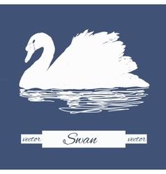 Stylization swan for logo design vector