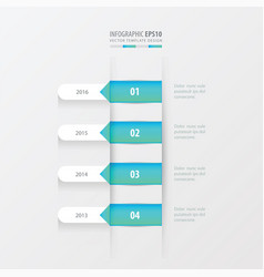 timeline template blue gradient color vector image vector image