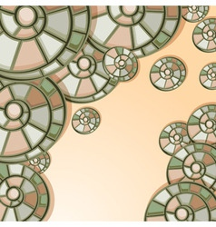 vector background with snail shells vector image vector image