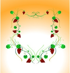 vector illustraition of elegant floral frame vector image